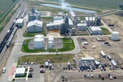 aerial view of global ethanol looking west