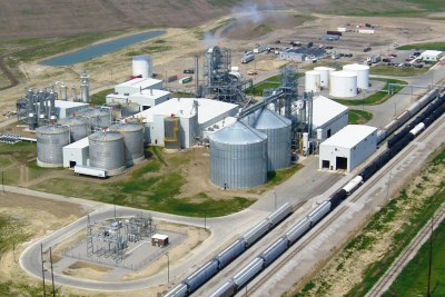 aerial view of global ethanol looking southeast