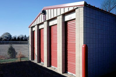Southeast corner of storage building 'D'