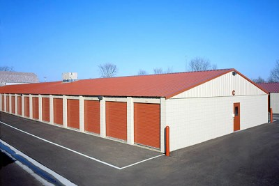 Southwest corner of storage building 'C'.  The center of this building is climate controlled.